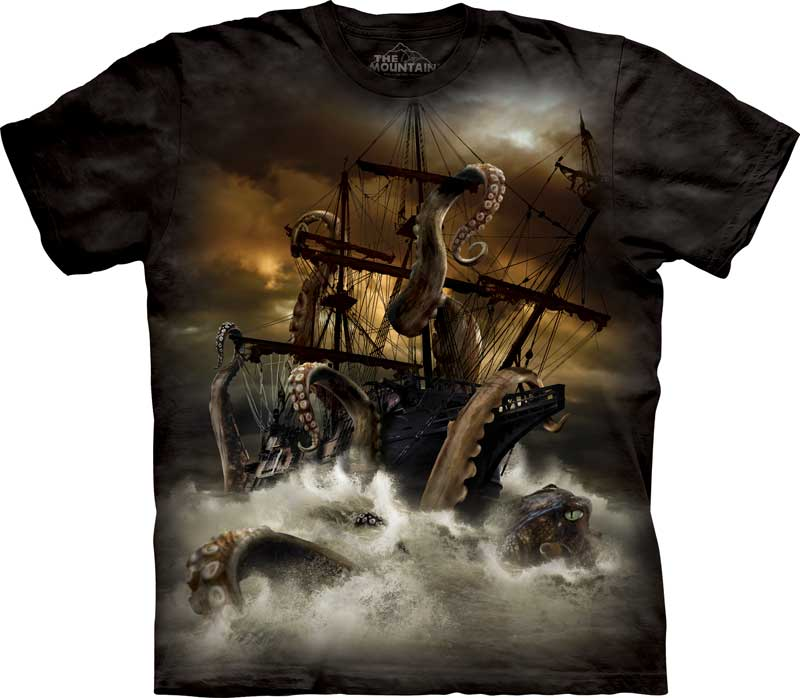Kraken Sea Monster Adults T-Shirt
