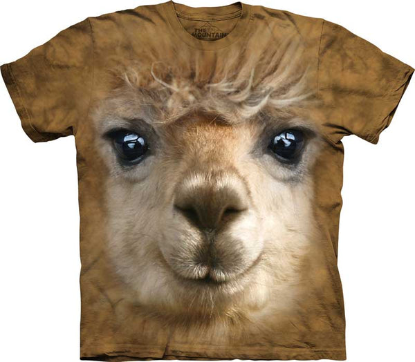 Alpaca Face Adults T-Shirt