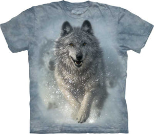 Snow Plow Wolf Adults T-Shirt