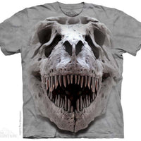 T-Rex Skull Adults T-Shirt