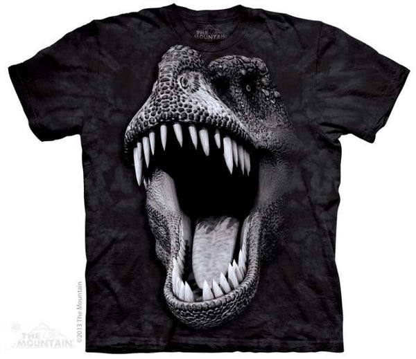 Big Face Rex Adults Dinosaur T-Shirt (Non-Glow)