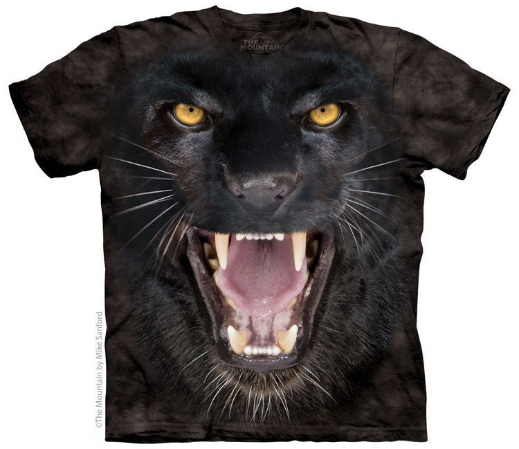 Aggressive Black Panther Adults T-Shirt
