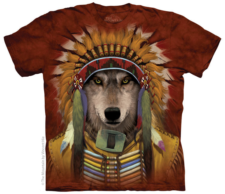 Wolf Spirit Chief Adults T-Shirt
