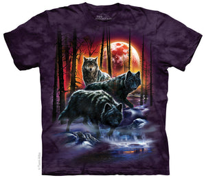 Fire and Ice Wolves Wolf Adults T-Shirt