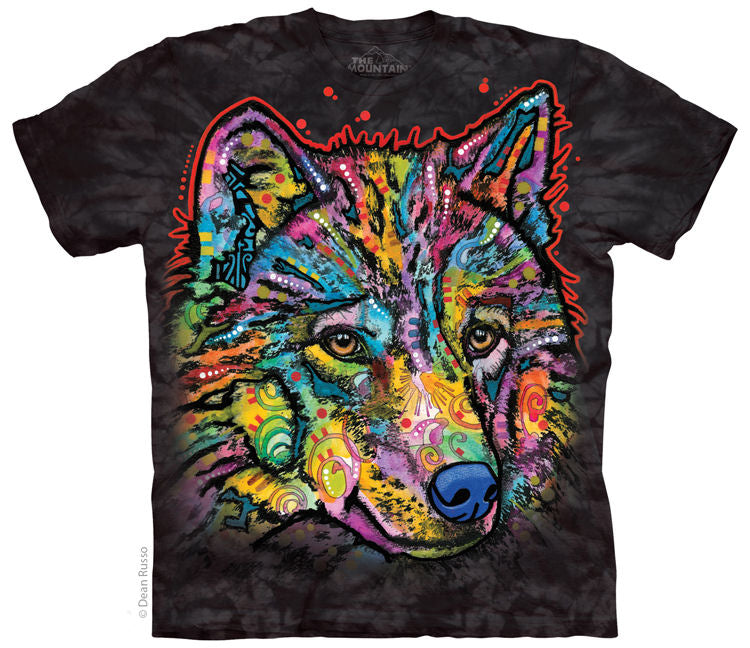 Happy Wolf Adults T-Shirt