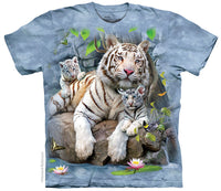 White Tigers of Bengal Adults T-Shirt