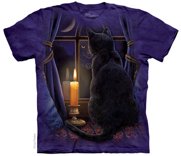 Midnight Vigil Cat Adults T-Shirt