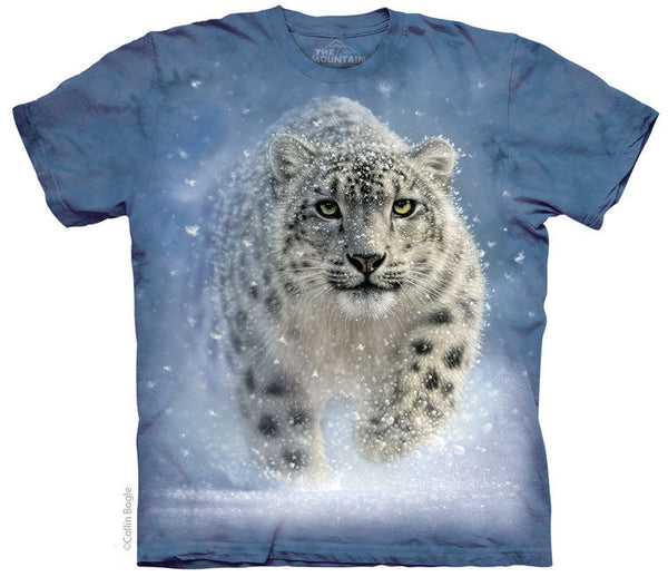 Snow Ghost Leopard Adults T-Shirt