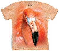 Big Face Flamingo Adults T-Shirt