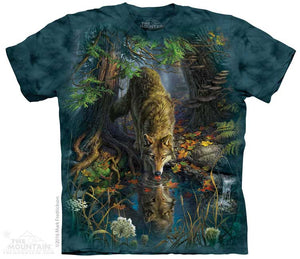 Enchanted Wolf Pool Adults T-Shirt