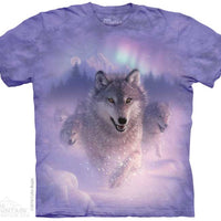 Northern Lights Wolves Adults T-Shirt