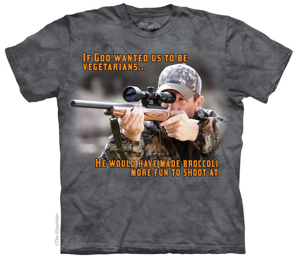 Broccoli Hunting Outdoor Adults T-Shirt