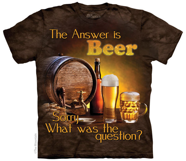 Beer is The Answer Adults T-Shirt