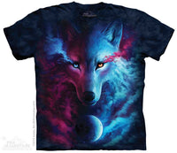 Where Light & Dark Meet Wolf Adults T-Shirt