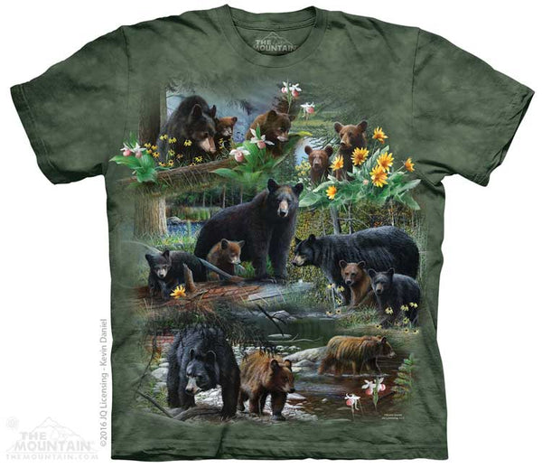 Bear Collage Adults T-Shirt