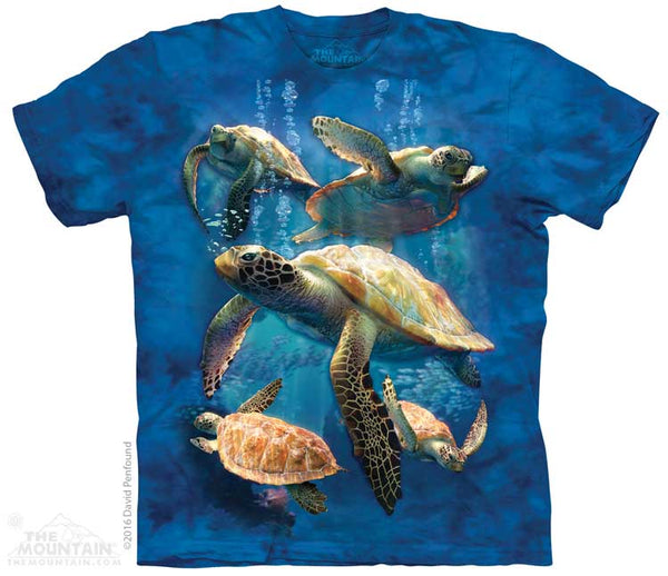 Sea Turtle Family Adults T-Shirt