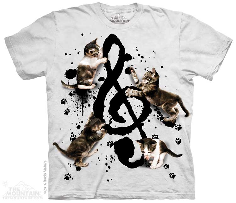 Music Kittens Adults T-Shirt
