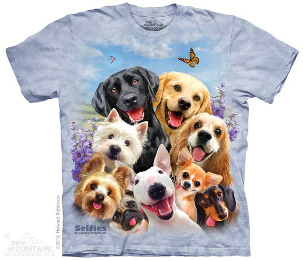 Dog Selfie Adults T-Shirt