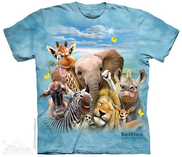 African Animal Selfie Adults T-Shirt