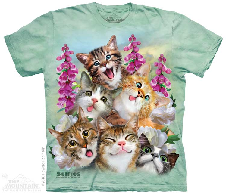 Kittens Selfie Adults T-Shirt