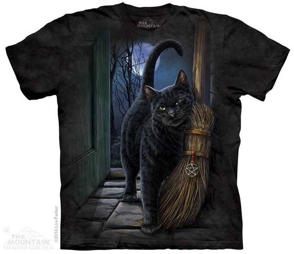 A Brush with Magic Black Cat Adults T-Shirt
