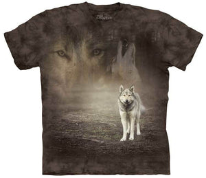 Grey Wolf Portrait Adults T-Shirt