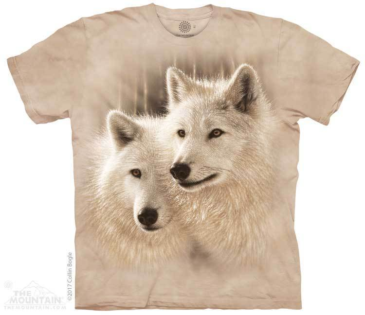 Sunlit Soulmates Wolf Adults T-Shirt