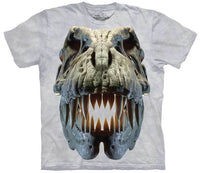 Silver Rex Skull Adults T-Shirt