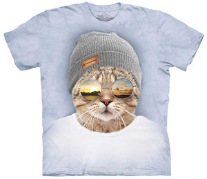Cool Hipster Cat Adults T-Shirt