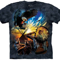 Eagle Prayer (Blessings of Peace) Adults T-Shirt