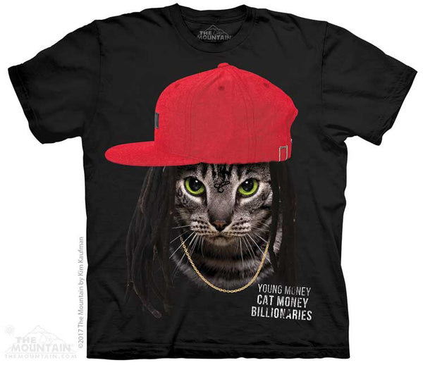 Cat Money Billionaires Rap Parody Adults T-Shirt