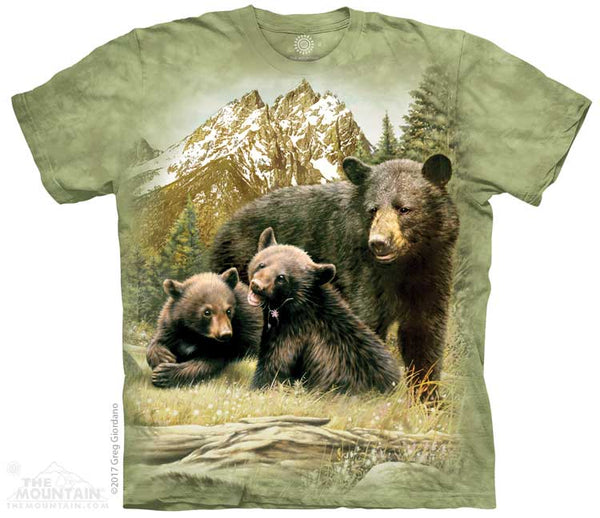 Black Bear Family Adults T-Shirt