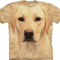 Yellow Labrador Portrait Adults T-Shirt