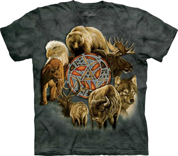 Animal Spirit Circle Adults T-Shirt