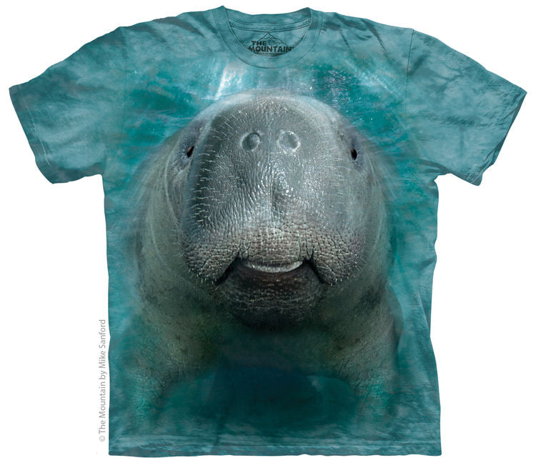 Big Face Manatee Adults T-Shirt
