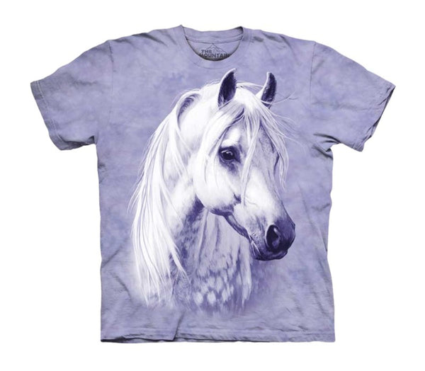 Moon Shadow White Horse Childrens T-Shirt