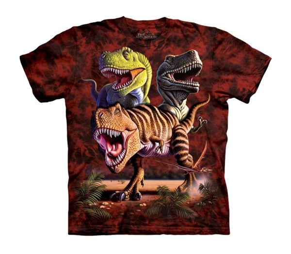 Rex Collage Childrens Dinosaur T-Shirt