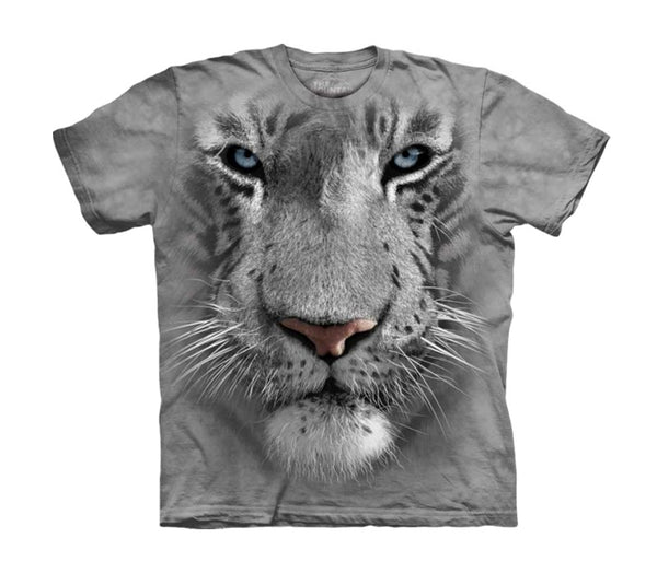 White Tiger Face Childrens T-Shirt