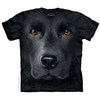 Black Labrador Face Childrens T-Shirt