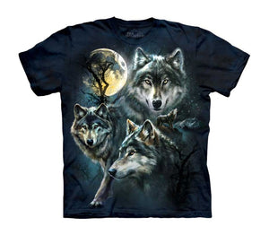 Moon Wolves Collage Childrens Wolf T-Shirt