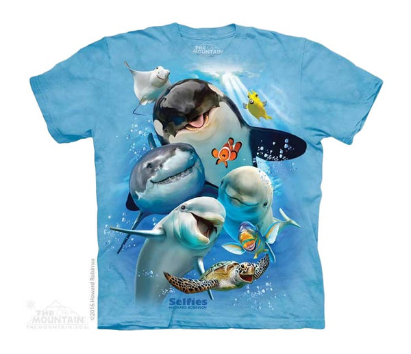 Ocean Animal Selfie Childrens T-Shirt
