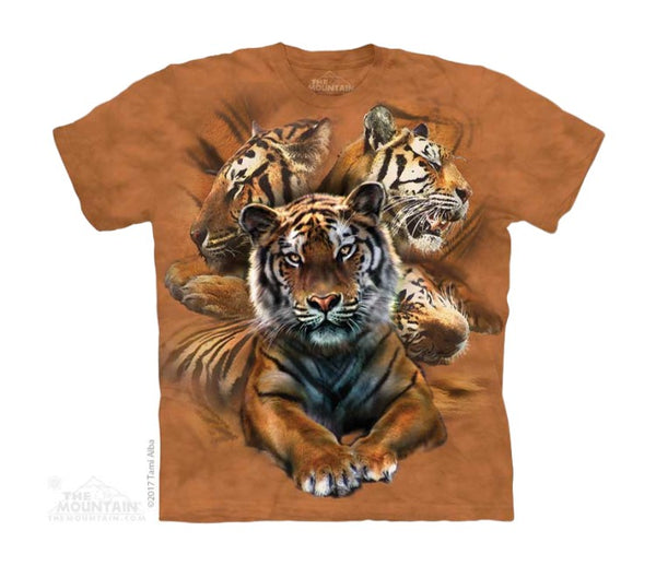 Resting Tiger Collage Childrens T-Shirt