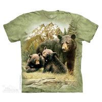 Black Bear Family Childrens T-Shirt