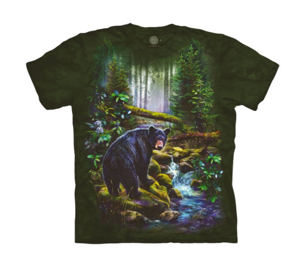 Black Bear Forest Childrens T-Shirt
