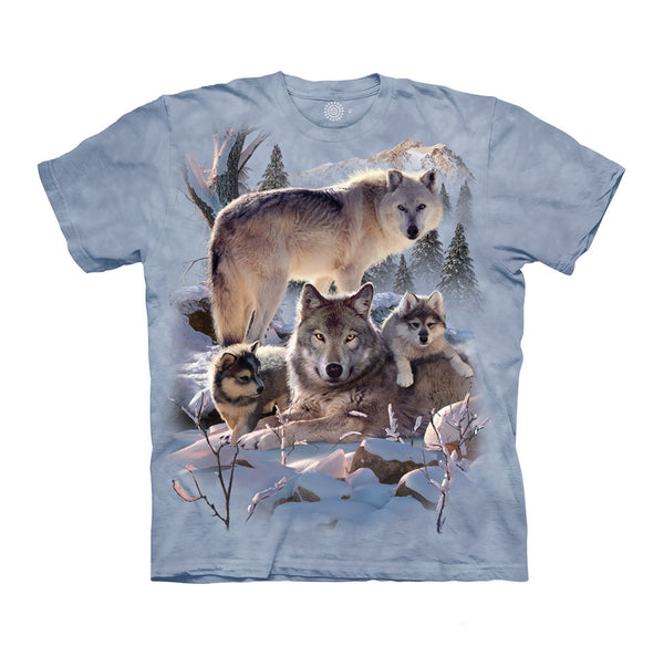 Wolf Family Mountain Childrens T-Shirt