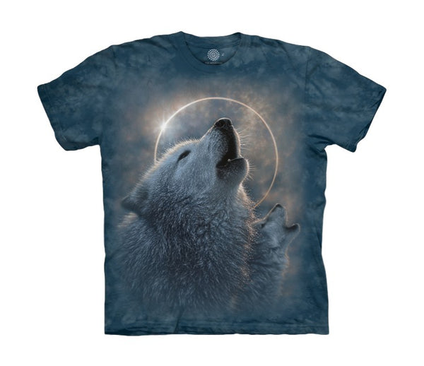 Howling Wolf Eclipse Childrens T-Shirt