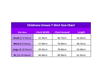 The Mountain T-Shirts Size Chart (Kids Unisex Style)