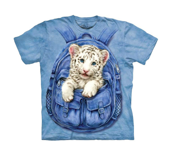 Backpack White Tiger Childrens T-Shirt
