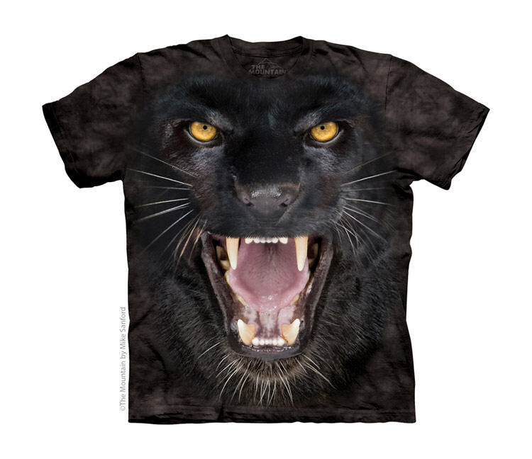Aggressive Black Panther Childrens T-Shirt