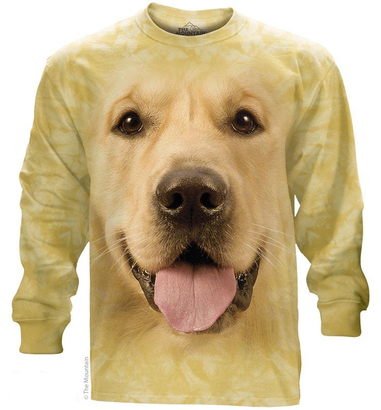Golden Retriever Face Adults Long Sleeve T-Shirt